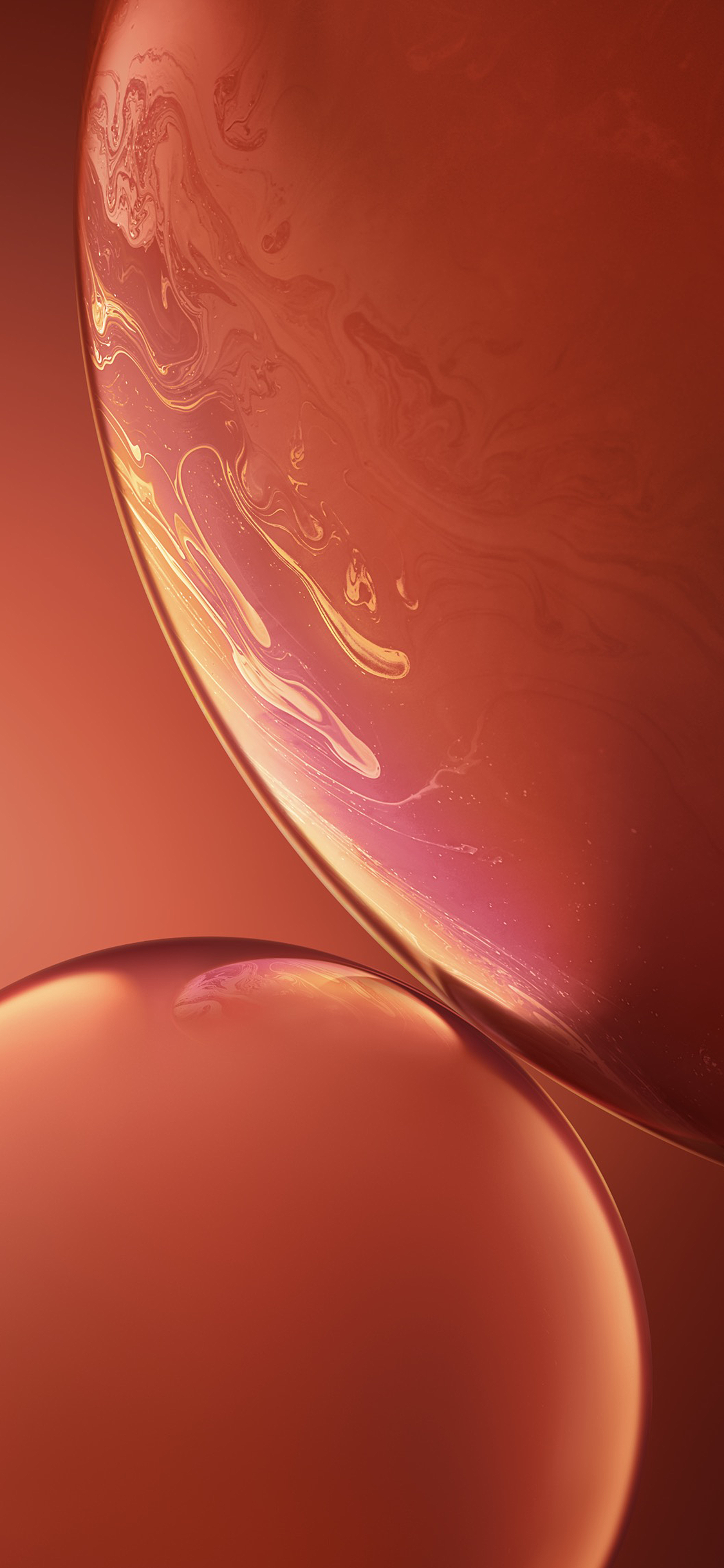 iPhone XR Stock Wallpaper - Coral