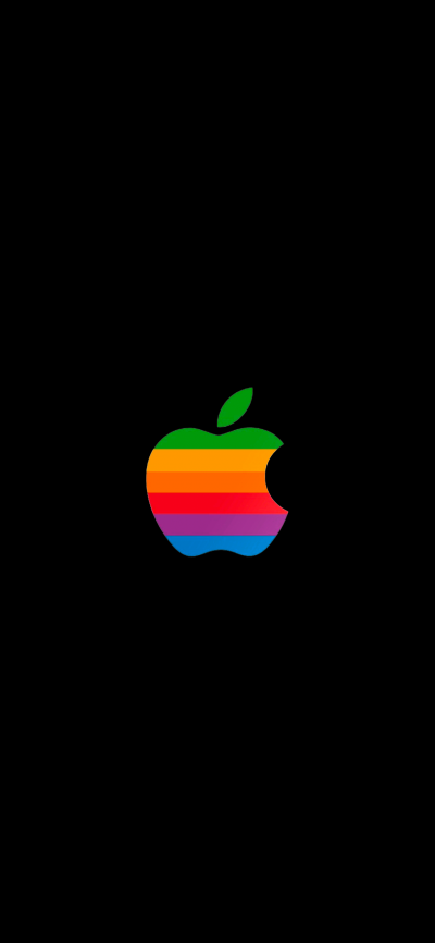 The Rainbow Apple Logo Black Version Wallpapers Central