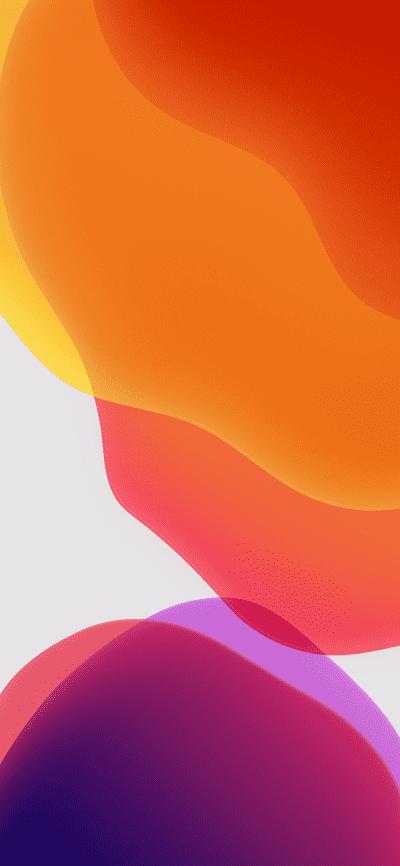 iOS 13 Stock Wallpaper Orange Light