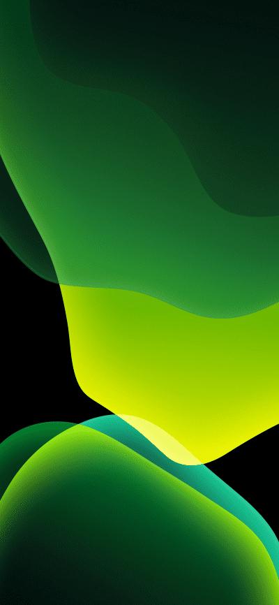 Ios 13 Official Stock Wallpaper Ultra Hd Green Dark