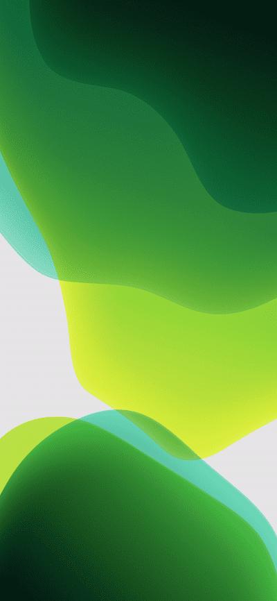 Ios 13 Official Stock Wallpaper Ultra Hd Green Light