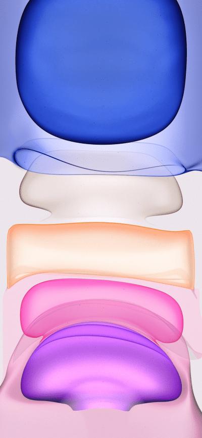 Iphone 11 Purple Light Stock Wallpaper Original From