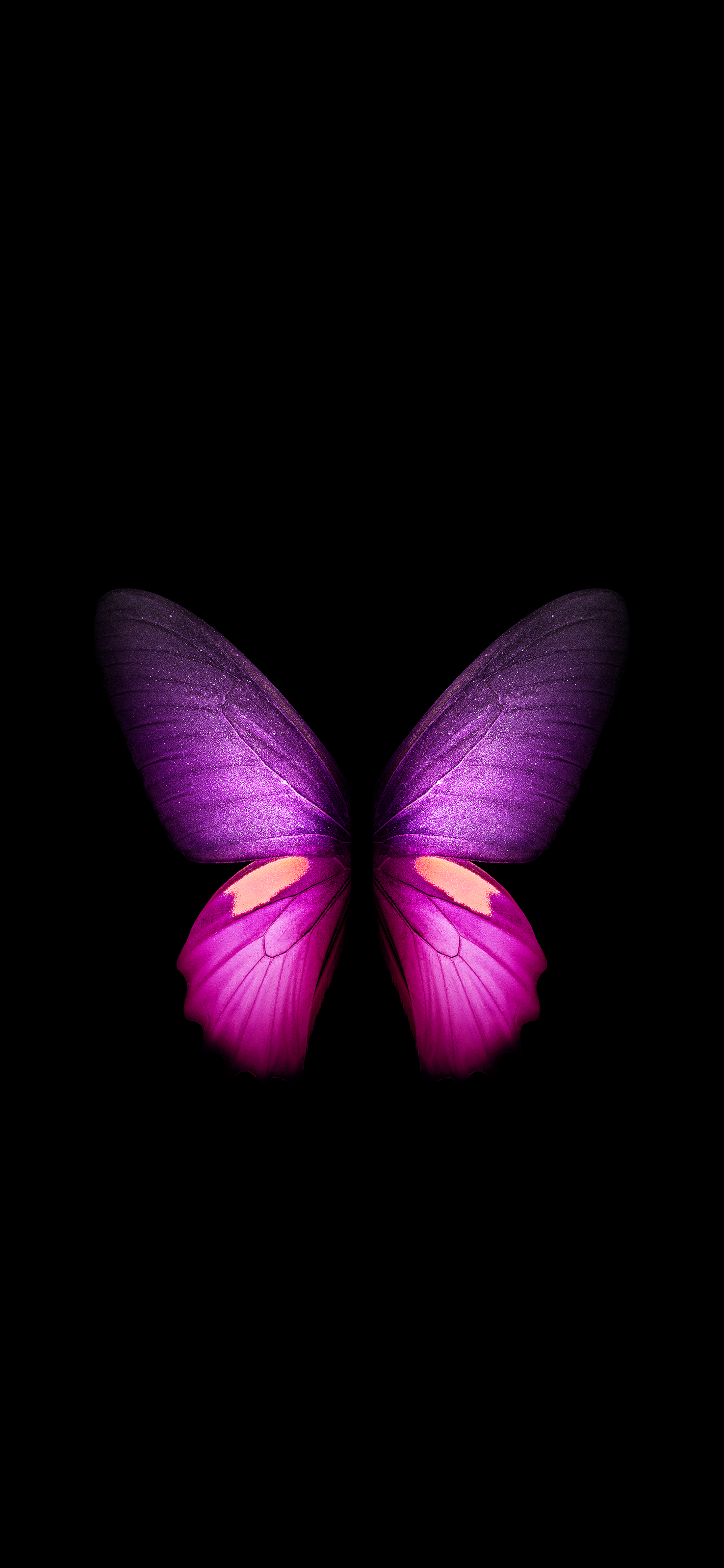 Butterfly Galaxy Fold Black Live Wallpaper Wallpapers Central
